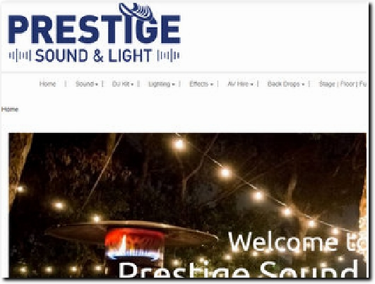 https://prestigesoundandlight.co.uk/ website