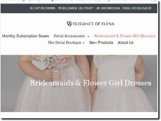 http://www.eleganceofelena.co.uk website