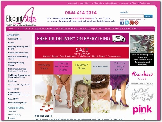 http://www.elegantsteps.co.uk website