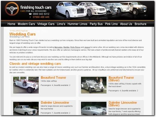 http://www.finishingtouchcars.co.uk/wedding-cars/ website
