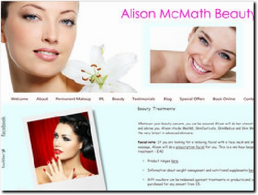 http://alisonmcmathbeauty.co.uk website