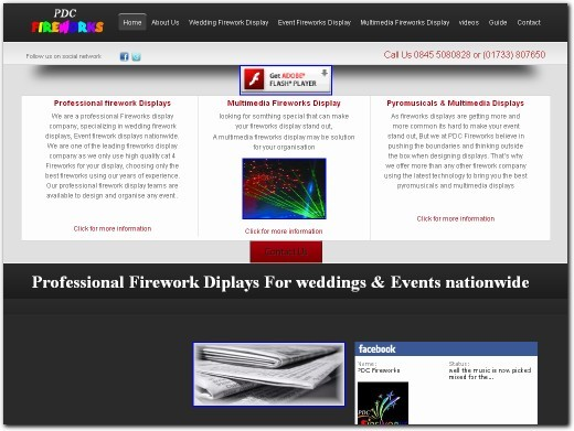 http://www.pdcfireworks.co.uk website