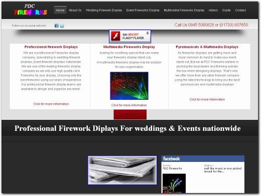 http://www.pdcfireworks.co.uk website