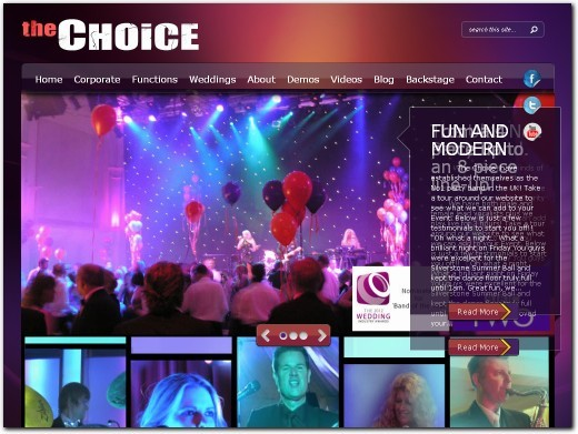 http://www.thebandchoice.com website