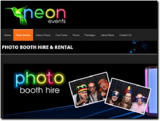 http://www.neonevents.co.uk website